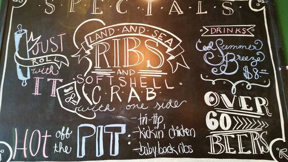 Something Different Restaurant Specials Chalkboard