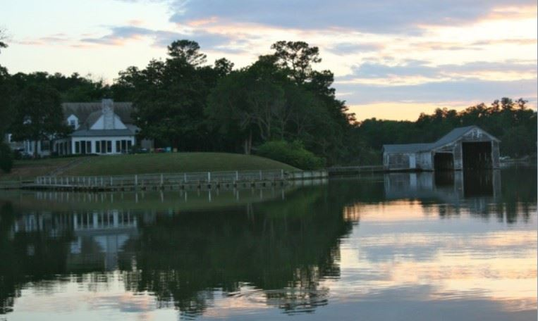 James Ross River Plantation viewed from across the waterfront