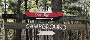 Cross Rip Campground Sign